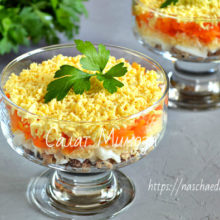 Салат мимоза с консервой — 6 разных рецептов