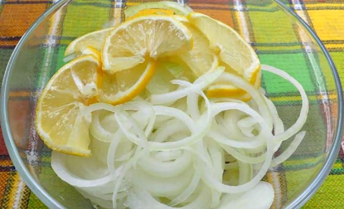 лук с медом и лимоном