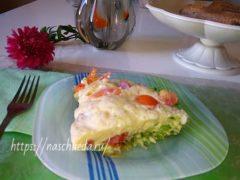 Вкусная запеканка на сковороде из кабачков с сыром, помидорами, яйцами