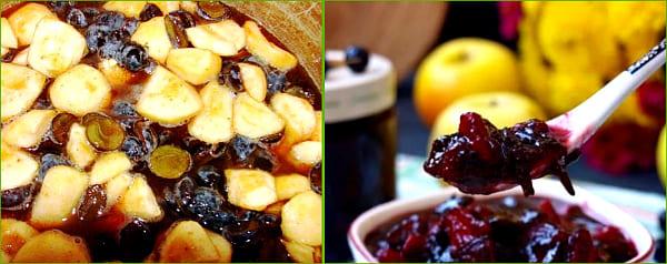 из терносливы и яблок