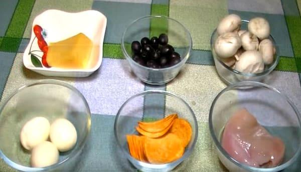 продукты для классического салата