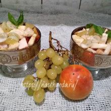 Простой рецепт фруктового салата с йогуртом