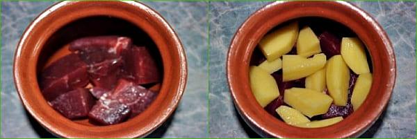 мясо и картофель