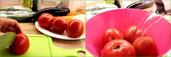 снять кожицу с помидор
