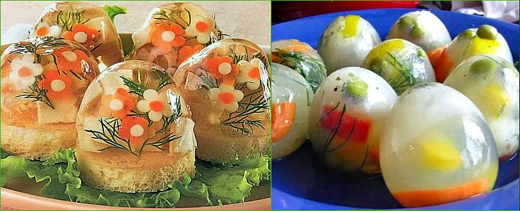 яйца с морковкой