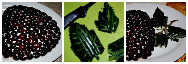 листья из огурца