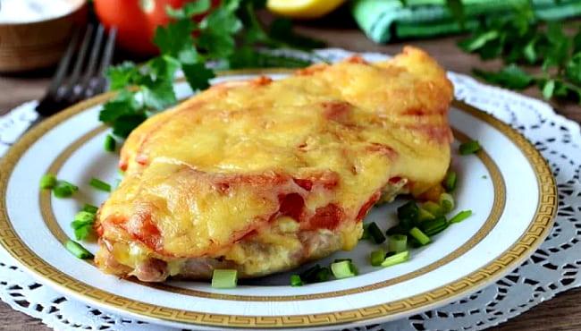 мясо по французски с картошкой в духовке