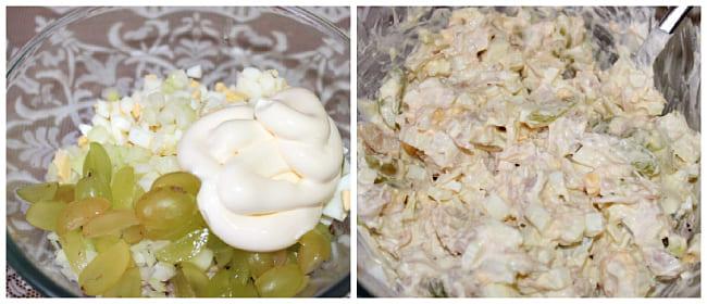 перемешивают в салатнике