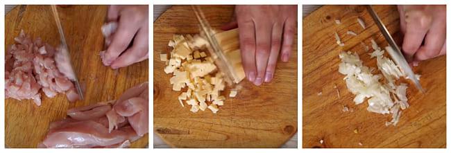 порезать кубиками