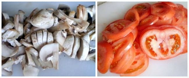 грибы и помидоры 2