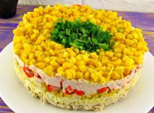 Салаты с курицей и кукурузой — 8 простых рецептов очень вкусных салатов