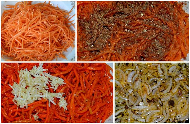 морковь чеснок, лук