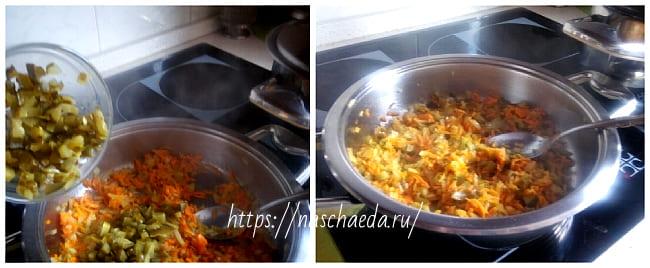 огурцы на сковороде