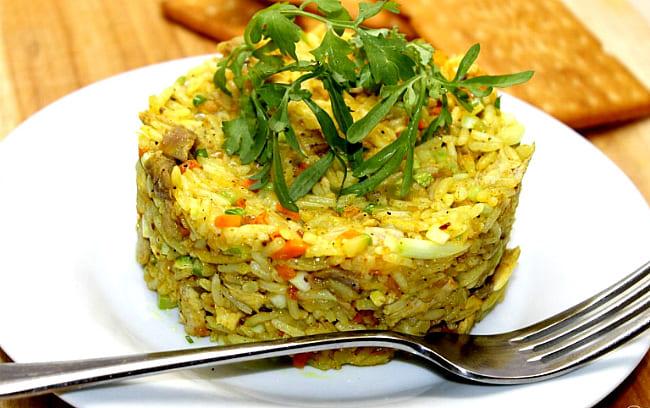 с кабачками и рисом
