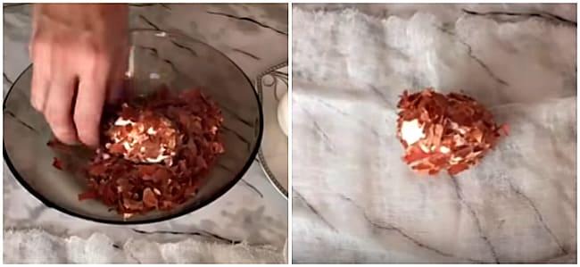 яйцо в луковых чешуйках