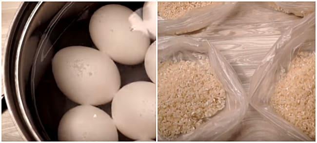 яйца и рис