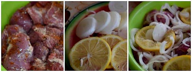 приготовление с лимоном